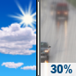 Sunday: A chance of rain after 4pm.  Mostly sunny, with a high near 62. Light and variable wind becoming west 5 to 10 mph in the afternoon.  Chance of precipitation is 30%. New precipitation amounts of less than a tenth of an inch possible.